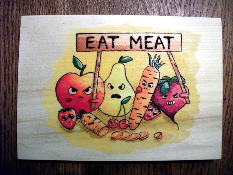 Eat Meat! by Caligo-Rat