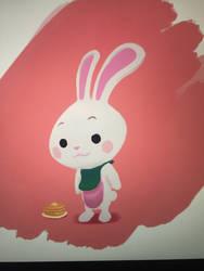 Pancake bunny by Bursaroo