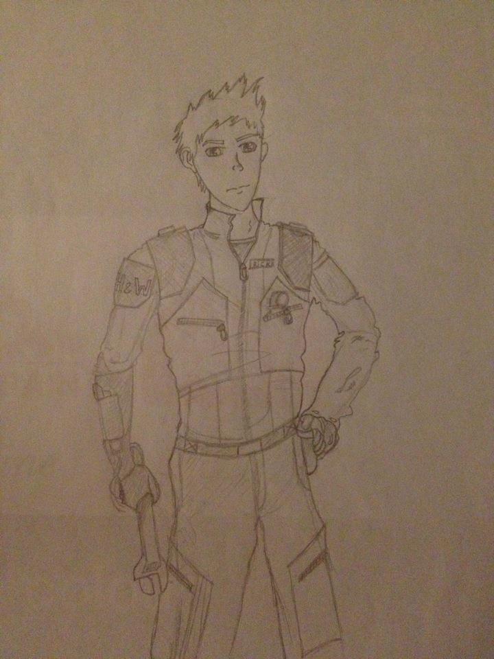 Character concept art Rick by Rebeller-93