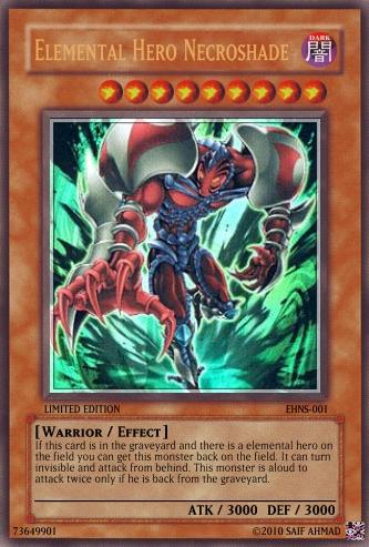 elemental hero necroshade by darkdragon124 on deviantart