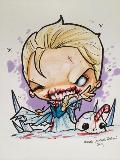 Zombie Elsa by Locoduck