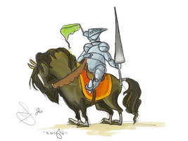 Knight by vimfuego