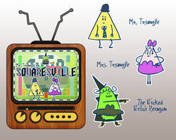 Mr. Triangle in Squaresville by vimfuego