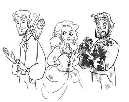 Steampunky Characters by vimfuego
