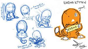 Karma Kitten Model Sheet by vimfuego