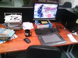desk by vimfuego