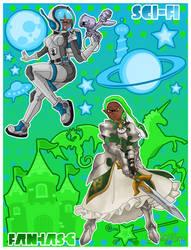 Sci-Fi VS Fantasy by StarfireEspo