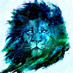 Cosmic Lion by shimhaq98
