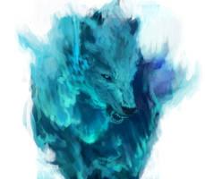 Aurora Wolf by shimhaq98