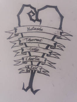 tattoo sketch bw