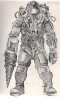 Bioshock 2 Big Daddy by diamondskeletons