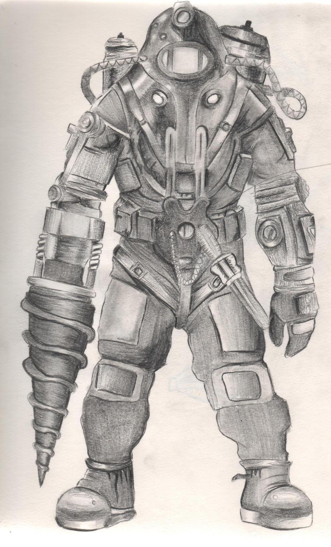 Bioshock 2 Big Daddy By Diamondskeletons On Deviantart