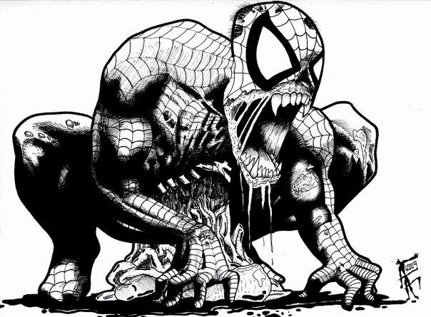 Zombie Spiderman by afac86 on DeviantArt