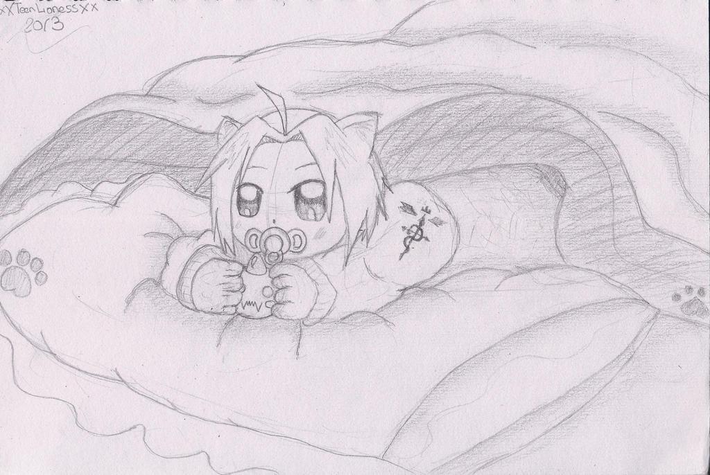 Baby Neko Edward Sketch by xXTeenLionessXx