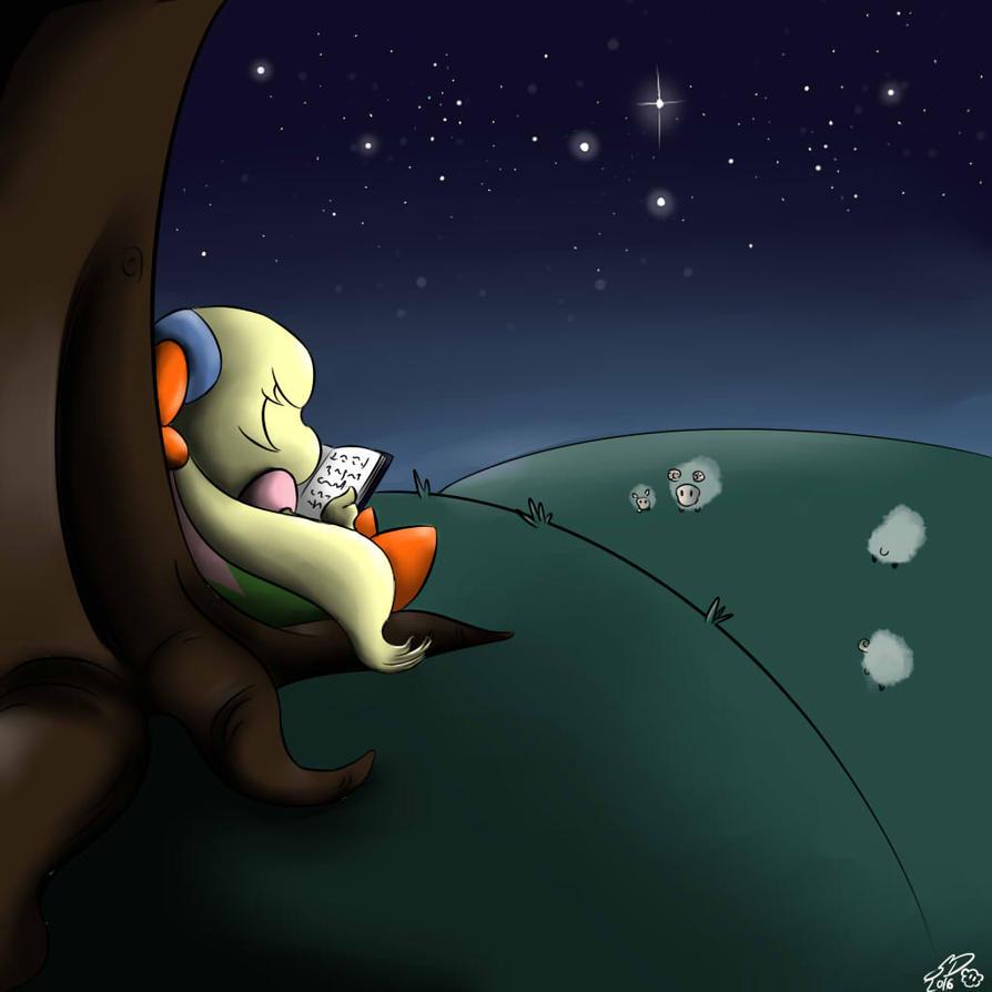 Reading under the Stars by xXTeenLionessXx