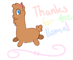 Thanks for the Llama! by Pen-Art78