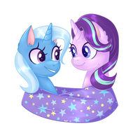 Starlight and Trixie by solareflares