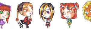 Chibis- fashions by Soji-chan