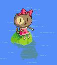 Little cat on an island by Soji-chan