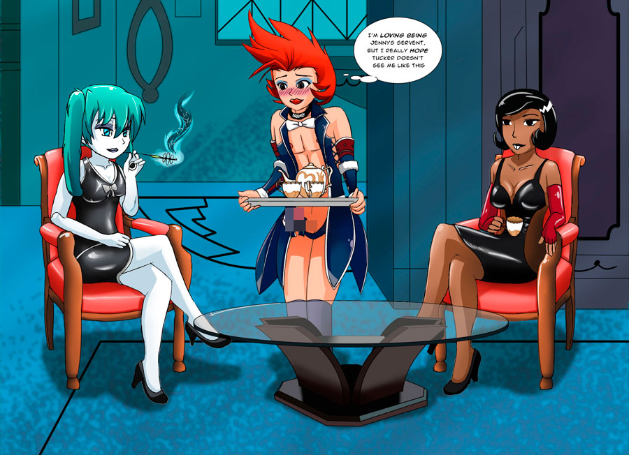 Tea time with Jenny and Britt by shadow2007x
