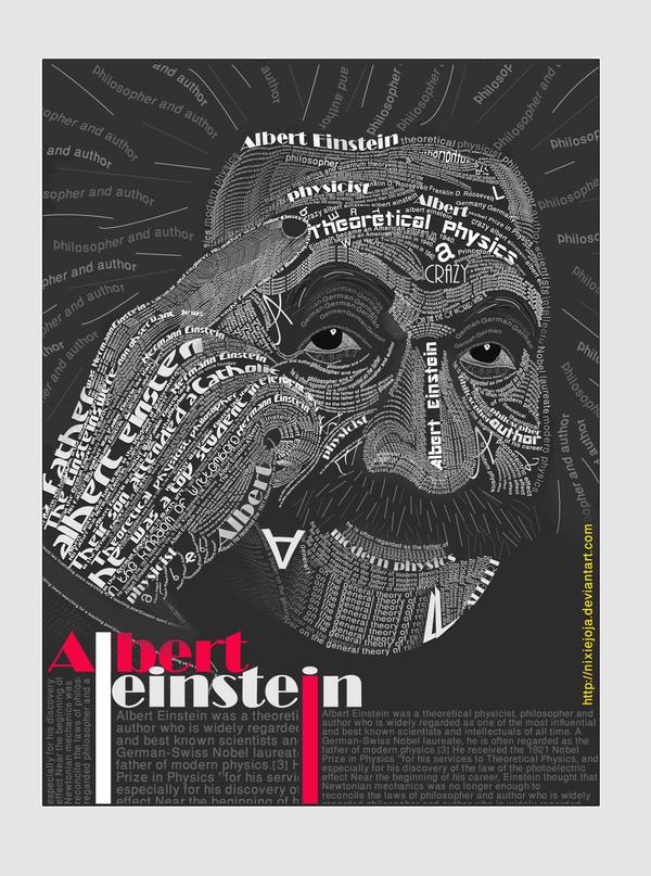 Albert Einstein Typography by HagarNagi