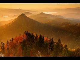 golden sunset by MindShelves
