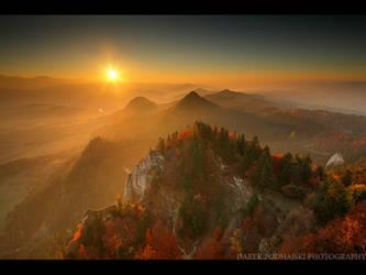 Foggy Sunset by MindShelves