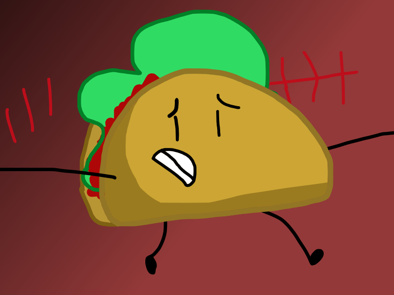 Poor Taco by ITSawLArt