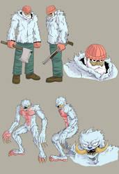 Hunter and Wendigo - Gun Trick - Concept by SphinxScribble