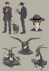 Preacher and Goat - Gun Trick - Concept by SphinxScribble
