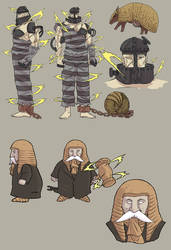 Prisoner and Armadillo - Gun Trick - Concept by SphinxScribble