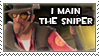 I Main the Sniper Stamp by Loniface