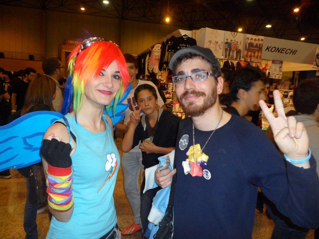 Rainbow Dash and Pokemon trainer [Mangafest-14] by DrPingas