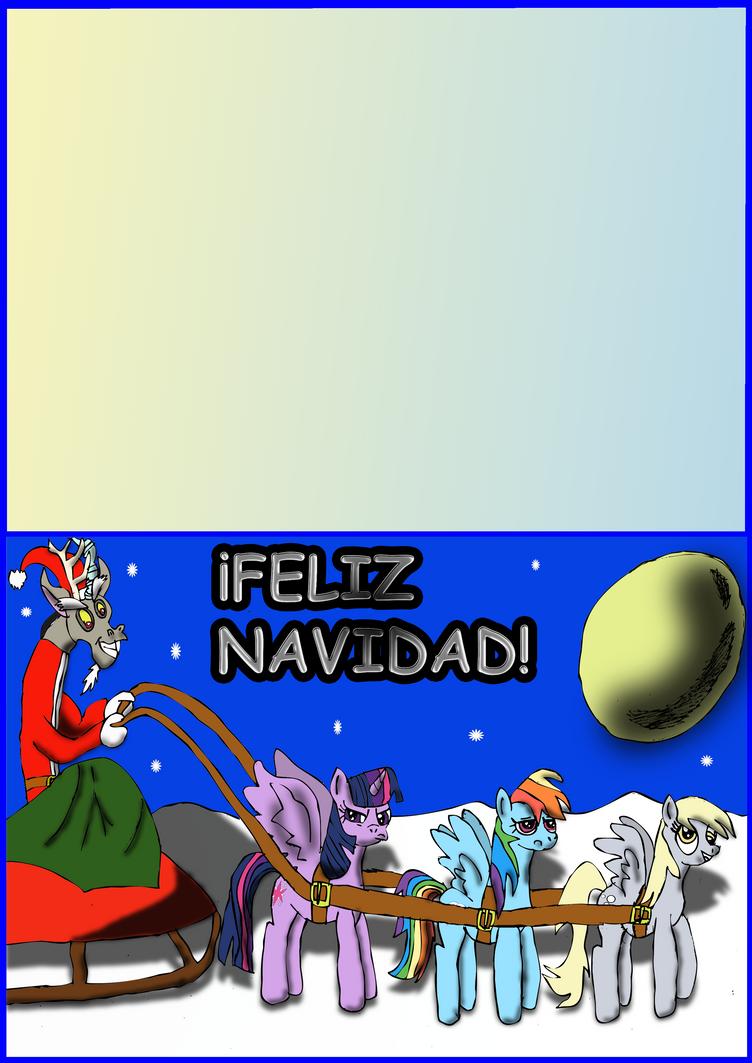 Postal Navidad 2014 mlp by DrPingas