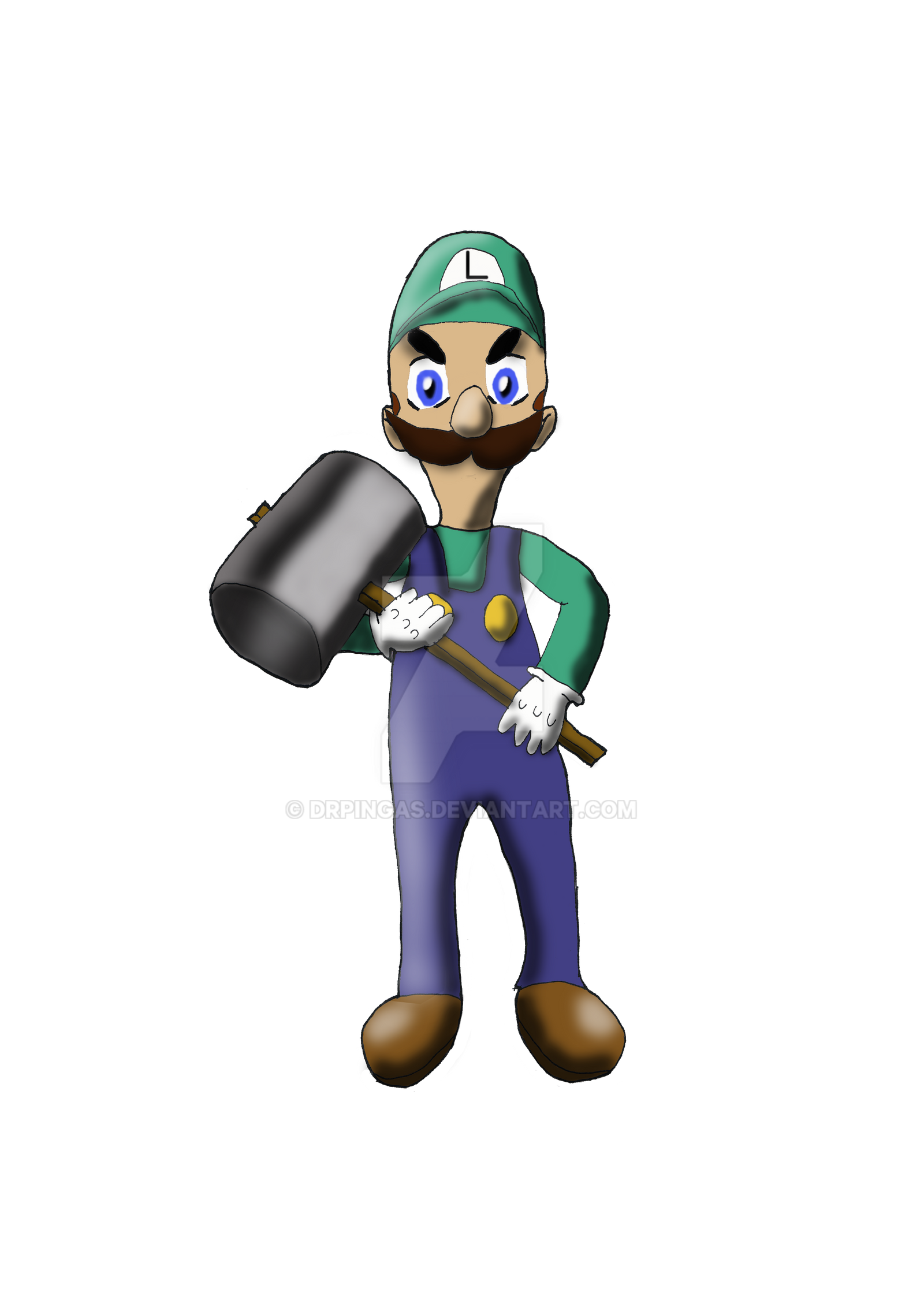 Luigi Kingdom Hearts Jurassic Revolution rpgmaker by DrPingas