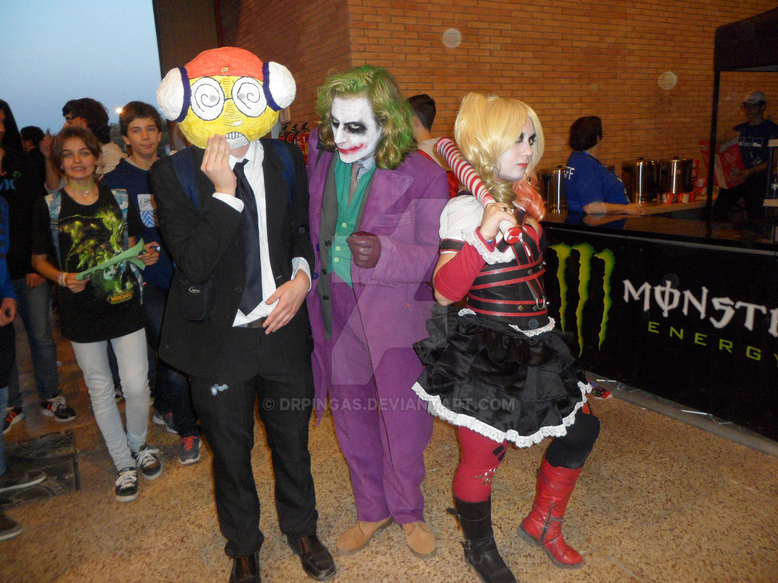 Kururu, Joker and Harley  [Cosplay #Mangafest15] by DrPingas