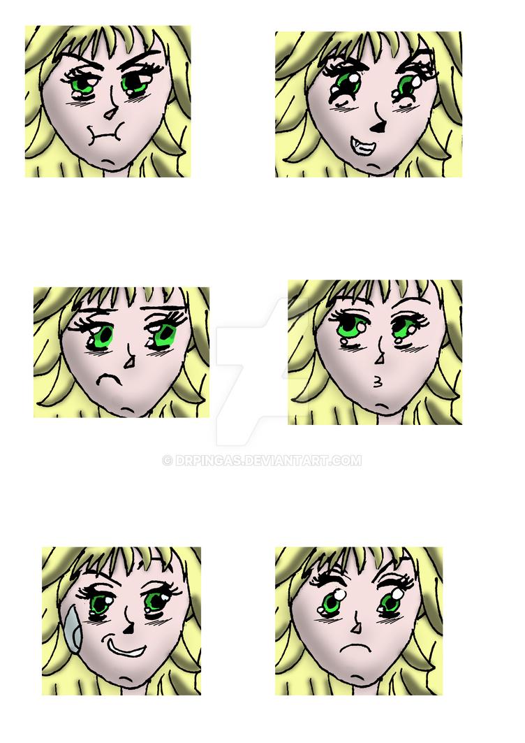 Tsuki expresions by DrPingas