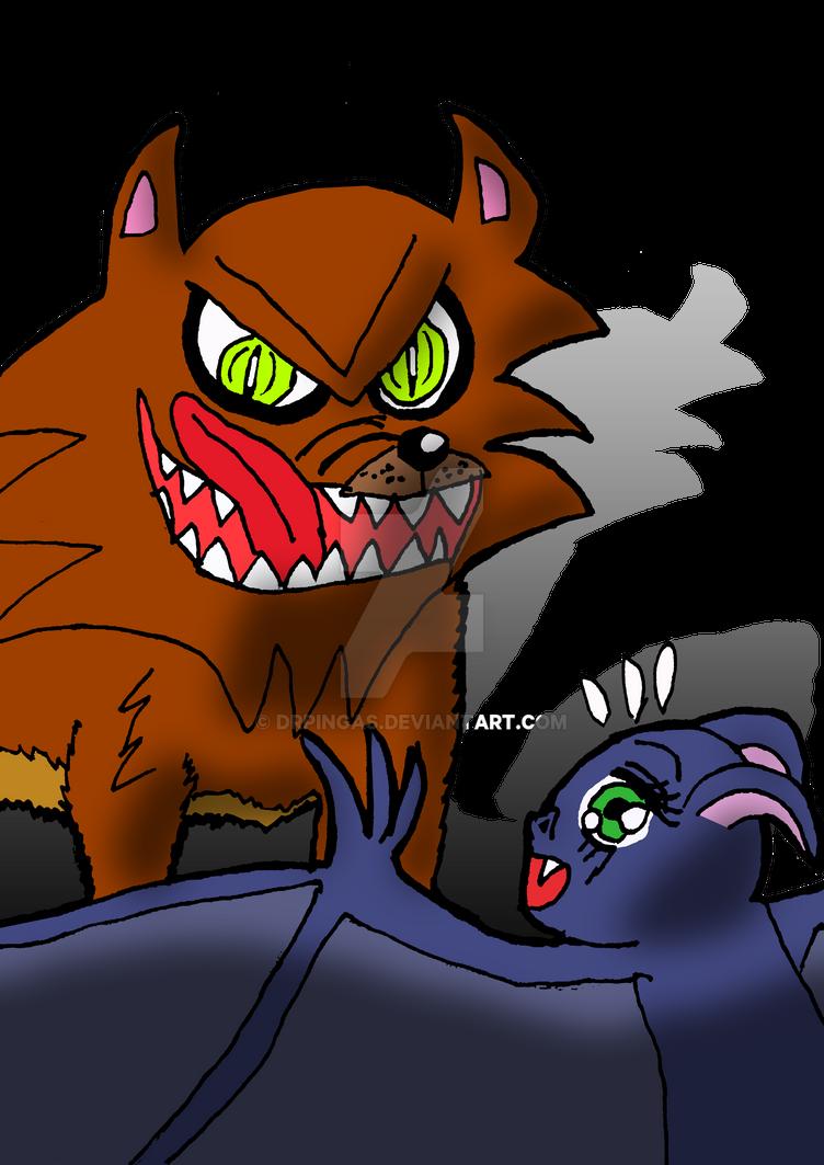Tsuki and Yaqui by DrPingas
