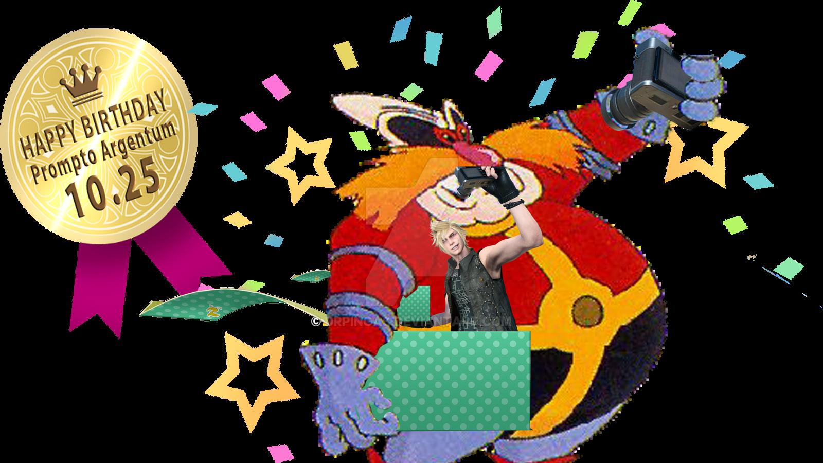 Robotnick FFXV prompto birthday gift star by DrPingas