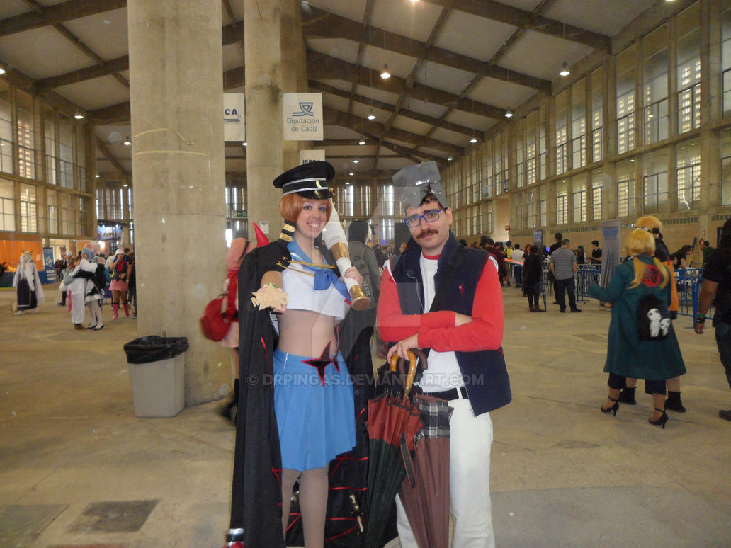 Mako Mankanshoku and Vegeta Gt cosplay by DrPingas