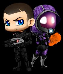 LB: Commander Shepard and Tali'Zorah by Artrisy
