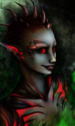 Sylvari Necromancer by Artrisy