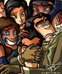 Team Avatar + creepy cousins