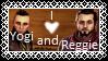 I love Yogi and Reggie | FTU STAMP by Tangleoflies
