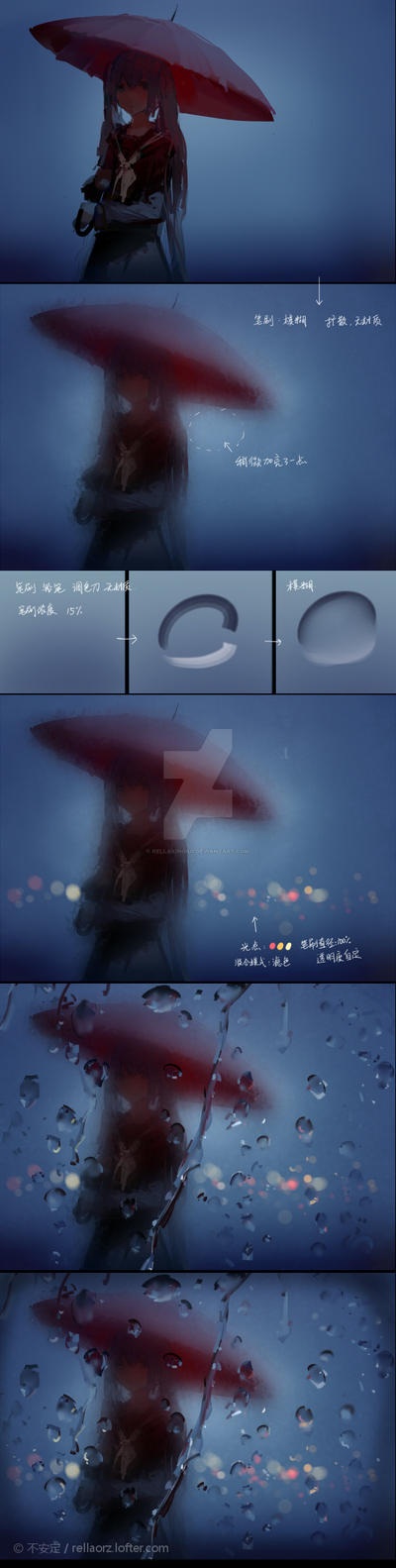 Tutorial - Color effects and rain by Rellakinoko