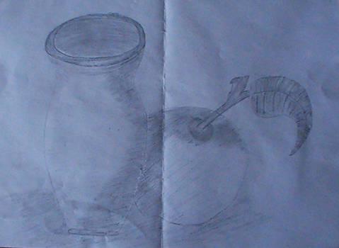 My old sketchs (2012) - 'Jug and apple'