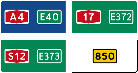 Road numbers - New project preview