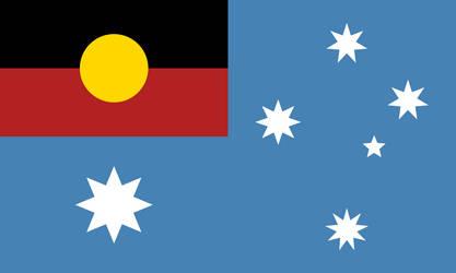 Flag of Aboriginal Australia by FollowByWhiteRabbit