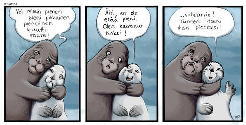 Seal pup comic - Mother Love by Linzu