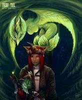 Summoner and Garuda egi by Linzu